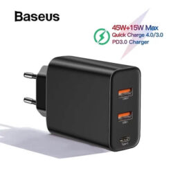 Baseus-3-Ports-USB-Fast-Charger-60W-Support-Quick-Charge-4-0-3-0-Type-C