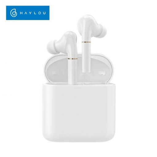 Haylou T19 Wireless Charging TWS+ Bluetooth Headphones Smart Noise Cancelling APTX Infrared Sensor Touch Wireless Earphones